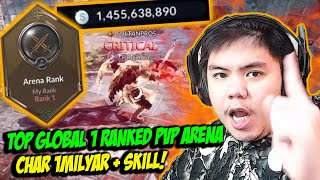 TOP GLOBAL 1 RANKED PVP ARENA CHAR 1MILYAR + SKILL!