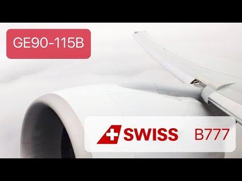*GE90-115B Sound* SWISS 777 Takeoff from Geneva