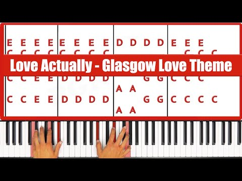 Glasgow Love Theme Piano Tutorial - ORIGINAL (Love Actually)