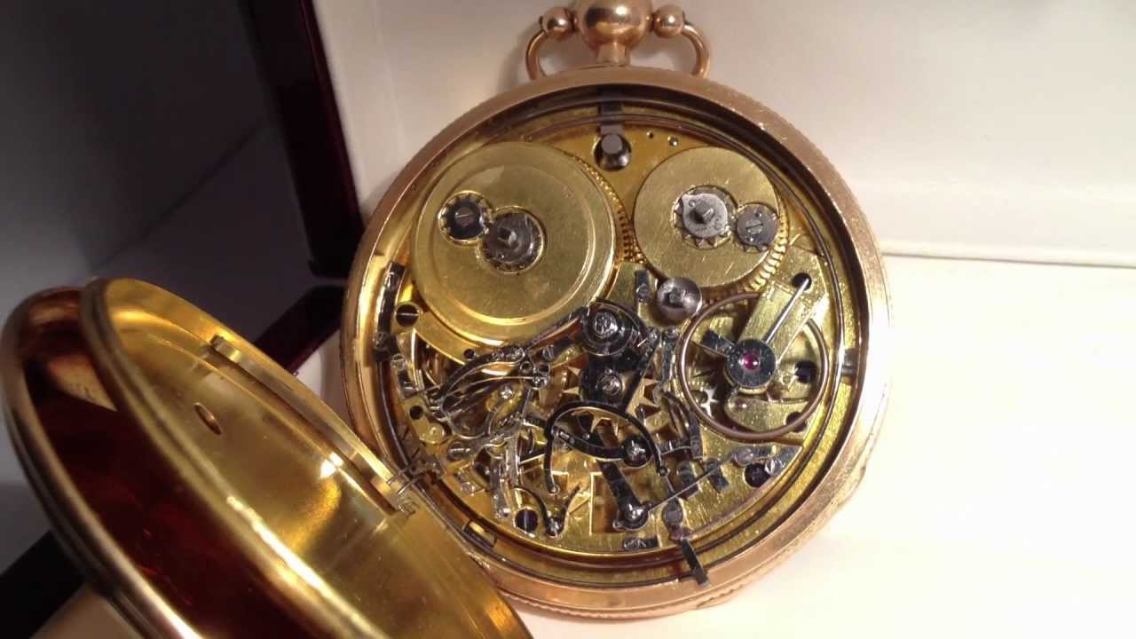 Favori Montre de gousset en or à Grande Sonnerie (mouvement) - YouTube LI62