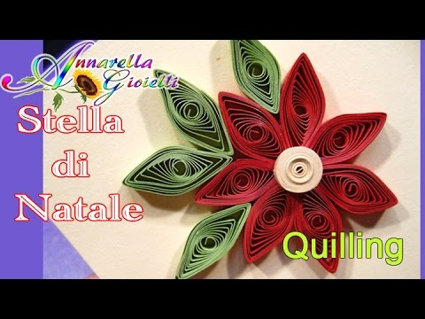 Tutorial stella di natale tecnica quilling youtube for Youtube lavoretti di natale