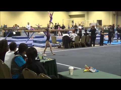 Kendall from WOGA at Chows Challenge meet Level 7