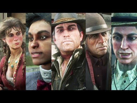 Red Dead Redemption 2 - John Marston Meet Old Gang Members and Arthur Friends (After Arthur Death)