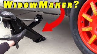How To Change a Tire with a VW Jack (The WIDOWMAKER)