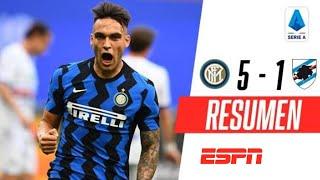 ¡EL CAMPEÓN FESTEJÓ EL TÍTULO CON UNA APLASTANTE GOLEADA! | Inter 5-1 Sampdoria | RESUMEN