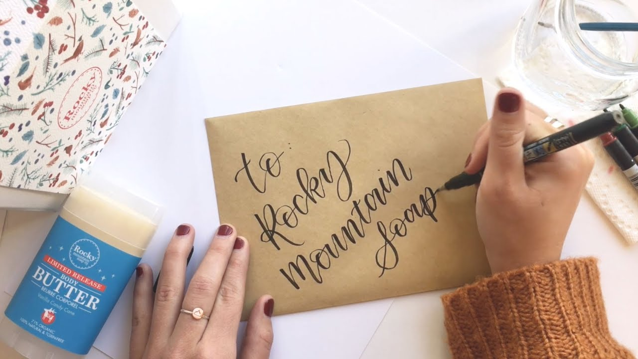 A beginners guide to modern calligraphy part 1 youtube