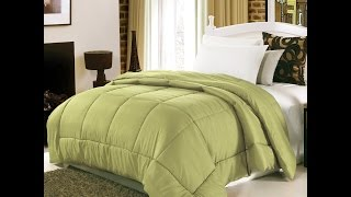 Homdox Comforter (Queen, Green) Luxurious Soft Polyester and Cotton Inner