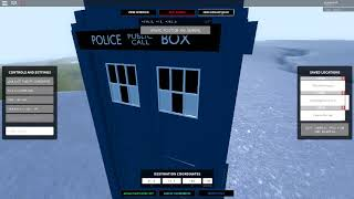 TARDIS Flight Control GUI - ROBLOX Doctor Who