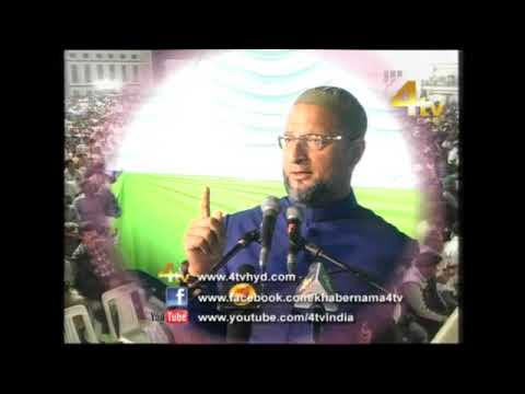 Asaduddin Owaisi Addressed Jalsa-e-Jashn at DarusSalam