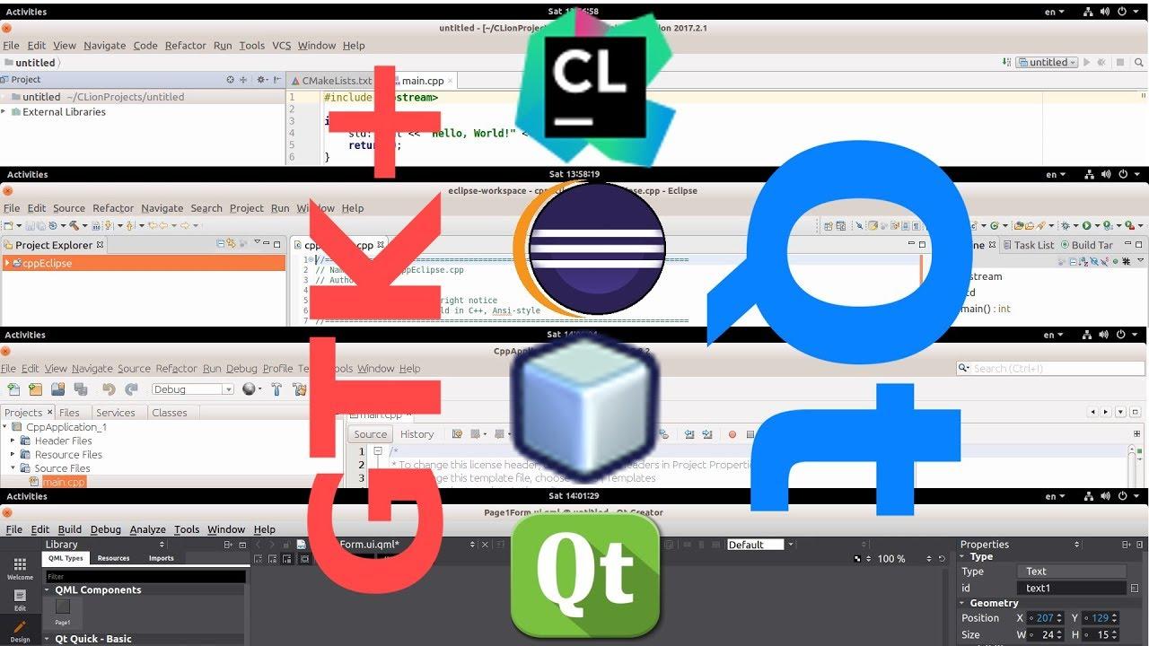 [IDE] Best Cross-Platform IDE : Hello World | Your First Program | GTK+ vs  Qt
