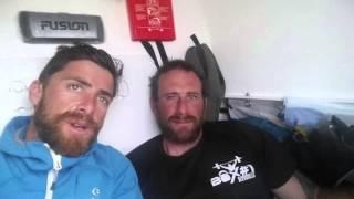 Aldo Kane and Jason Foxy Fox discuss their first capsize, at night mid Atlantic