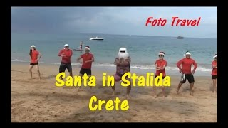 Santa Claus on the  beach in Stalida,  Crete / Санта в Сталиде, Крит(December 2014. It is very warm. Arrival of Santa Claus on the beach in Stalida, Crete. Декабрь 2014. Очень тепло. Прибытие Санта Клауса на пляж в..., 2014-12-30T20:55:43.000Z)