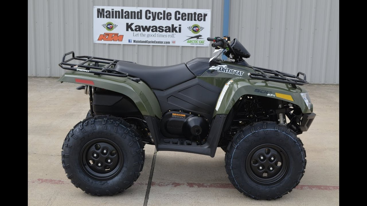 6 199 2014 Arctic Cat 500 4x4 I In Green For Sale Youtube