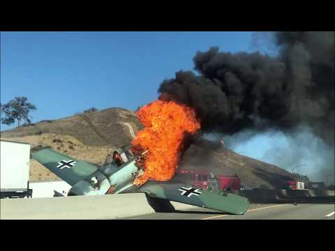 Air disaster North American SNJ-5 Texan plane crash in Agoura Hills USA