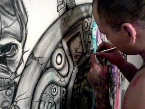 Joey Airbrushing Aztec Calender Youtube
