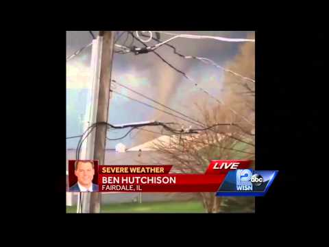 Funnel clouds spotted near Rockford, Illinois