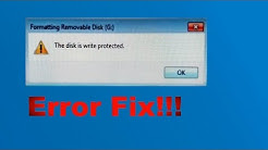 How to format write protected disk