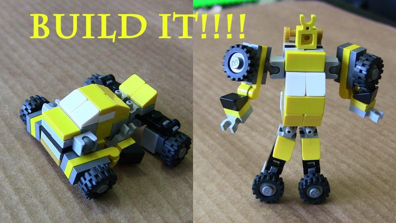 Lego Bumblebee Transformer Instructions Youtube