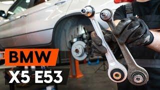 Hvordan udskiftes bærebru bag / bærearm bag on BMW X5 (E53) [GUIDE AUTODOC]