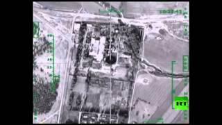 """استهداف الغارات الروسية لمعمل تكرير للنفط في منطقة """"خفسة كبير"""" في محافظة حلب    3-12-2015"""