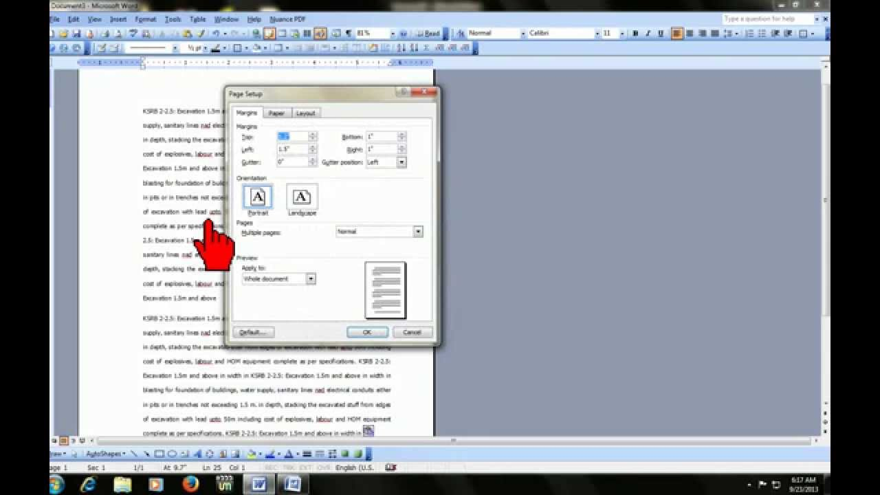 microsoft word how to get page numbers