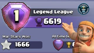 New World Record Created In Clash Of Clans ( Highest Trophy Level ) Coc