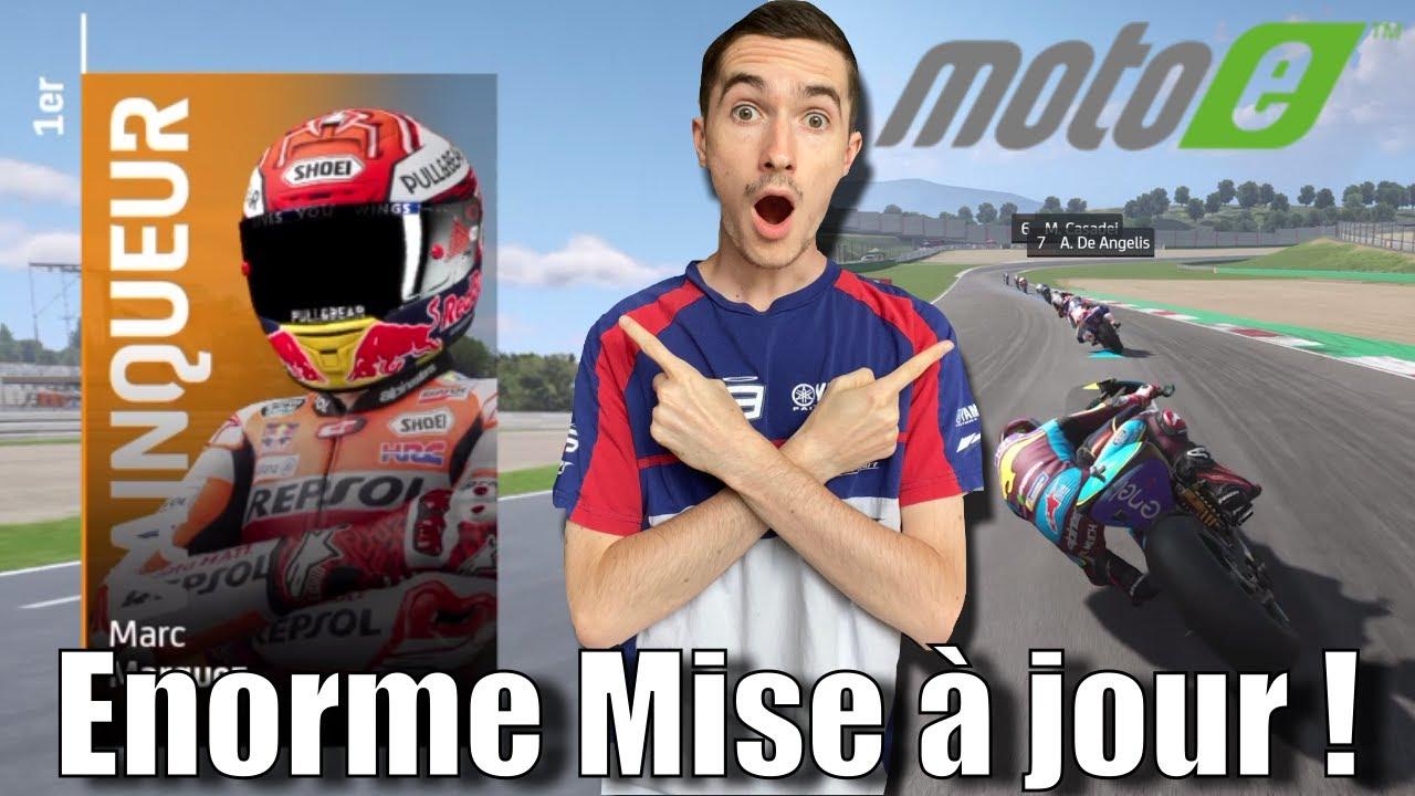 """MotoGP 20 - ÉNORME MISE À JOUR !!! - MotoE, """"Nouvelle"""" carrière, nouvelle interface !!!"""