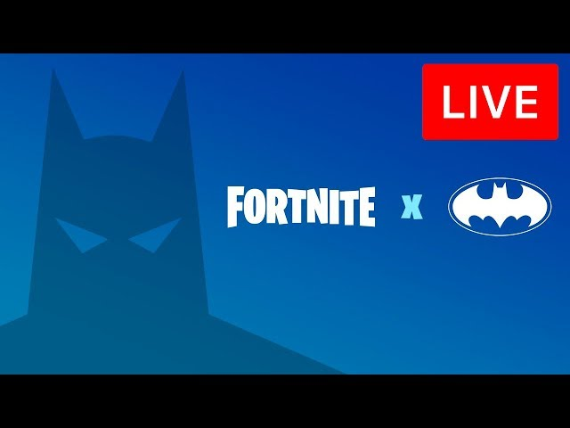 🔴 [LIVE] *NEW* FORTNITE x BATMAN EVENT! - NEW CHALLENGES, SKINS & MAP! (FORTNITE BATTLE ROYALE)