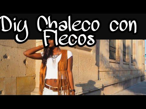 f7dac9ab6b DIY COMO HACER UN CHALECO DE FLECOS EN TENDENCIA SUPE - YouTube