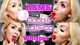 ASMR (Up-Close Whisper) Lollipop Licking Chewing Gum