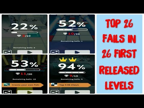 [1.000.000 Views Special] Rolling Sky - Top 26 Fails In 26 First Released Levels
