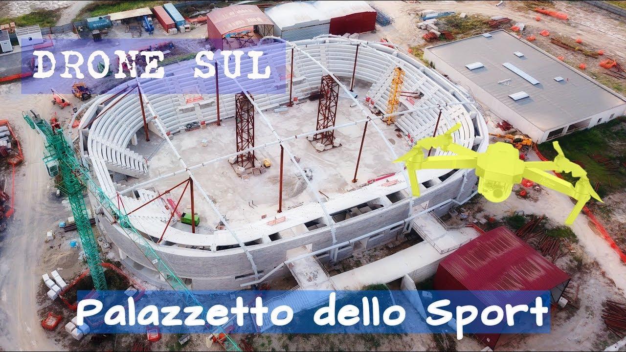 Nuovo Palazzetto Dello Sport Lamezia Terme Work In Progress Dal Drone Youtube