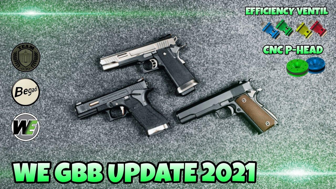 [TECH] WE GBB Update-Modelle (HiCAPA, GForce, M9, M1911) mit CNC Piston-Head, Efficiency Ventil