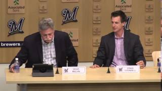 Craig Counsell introduced as new Brewers manager