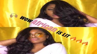 Styling My Italian Yaki Lace Wig | ft. wowAfrican