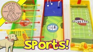 Finger Board Games - Golf, Soccer & Football - Battling Fingers!
