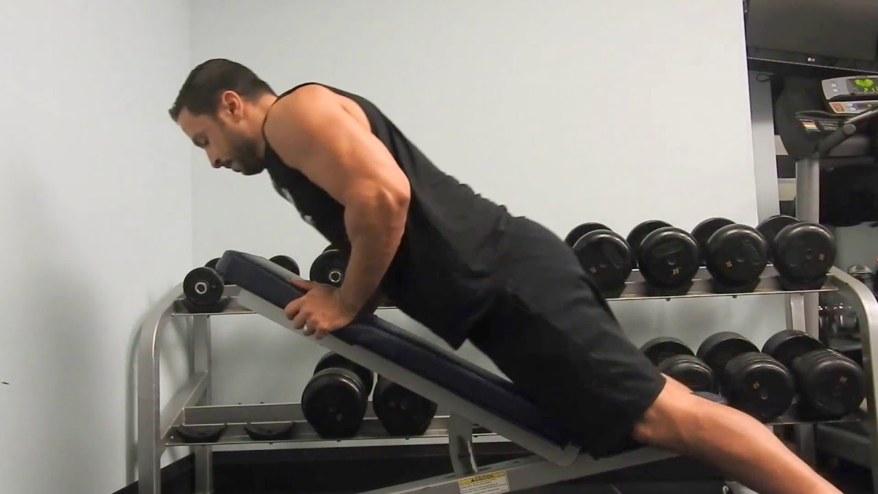 Dumbbell Row On Incline Bench Back Exercises