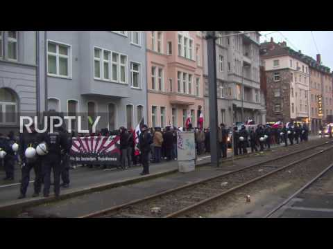 Germany: NPD rally faces antifa protesters in Cologne