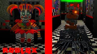 Becoming Scrap Baby and Molten Freddy in Roblox?! Roblox FNAF 6 Lefty's Pizzeria