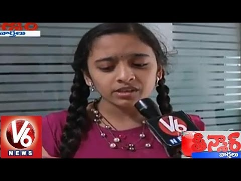 Bathukamma Song || English Version By Sai Shreya || Teenmaar News || V6 News