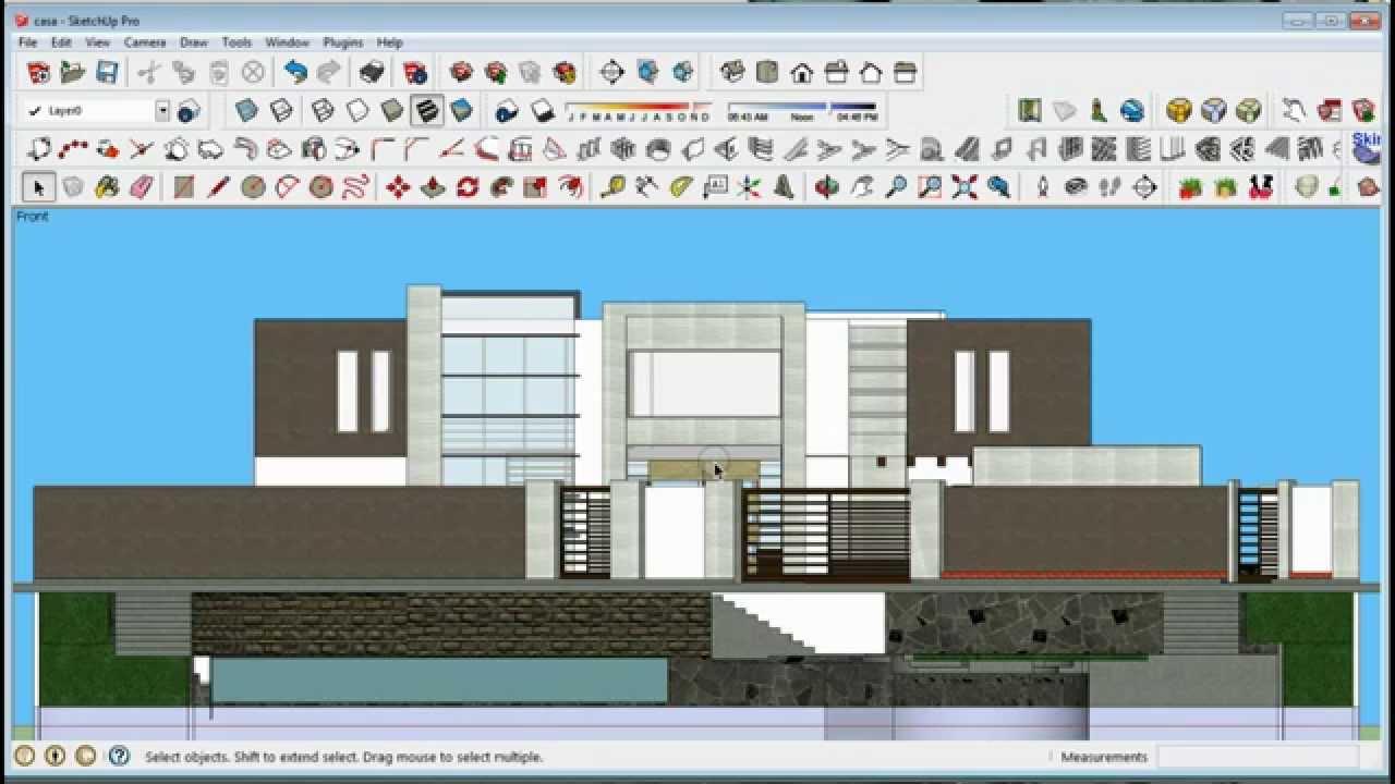 Como exportar planos de sketchup a autocad tutorial for Casas en 2d