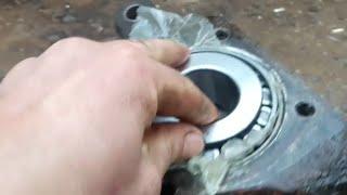 Замена шкворня на Volvo fh12