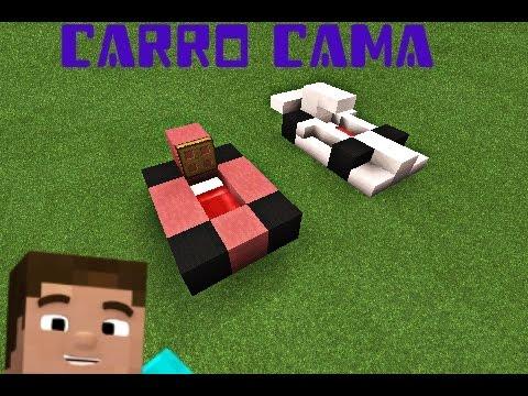 Como hacer un carro cama minecraft youtube for Cama minecraft