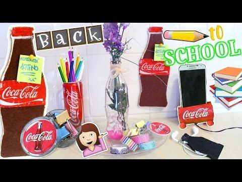DIY BACK TO SCHOOL ROOM DECOR ITA COCA COLA! Collab.Iolanda Sweets   #DiyConNancy Nancy Joli Bijoux