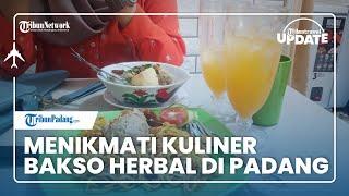 🔴TRIBUN TRAVEL UPDATE: Bakso Herbal Lobster di Kota Padang Menggugah Selera, Menu Sehat tanpa MSG