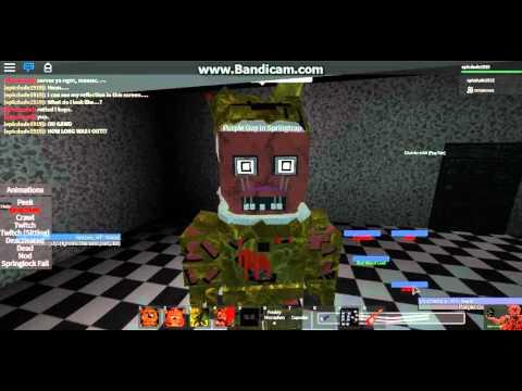 Roblox fnaf 3 role play