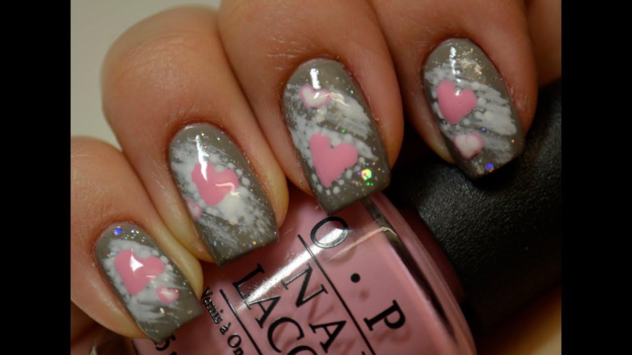 Winter love - nail art tutorial - - YouTube