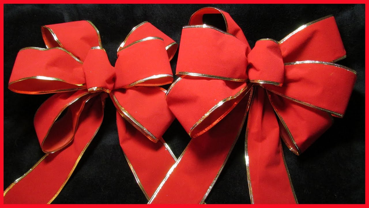 how to make a decorative christmas bow no1 with subtitles youtube