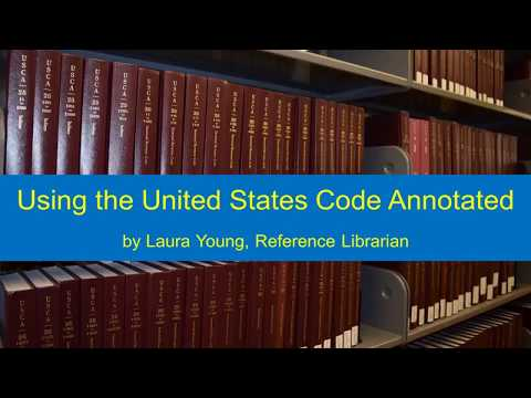 United States Code Annotated Instruction