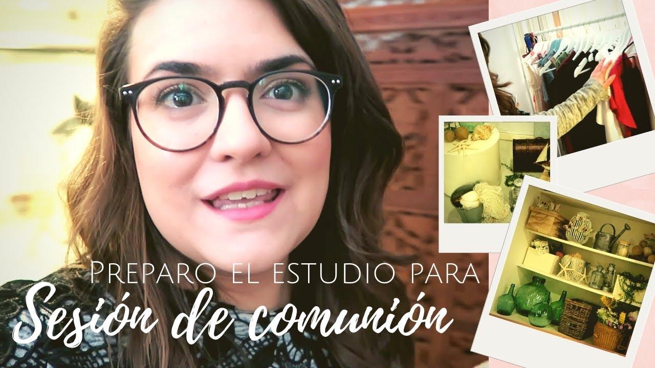Sesión de fotos Primera Comunión | Cómo preparo el estudio